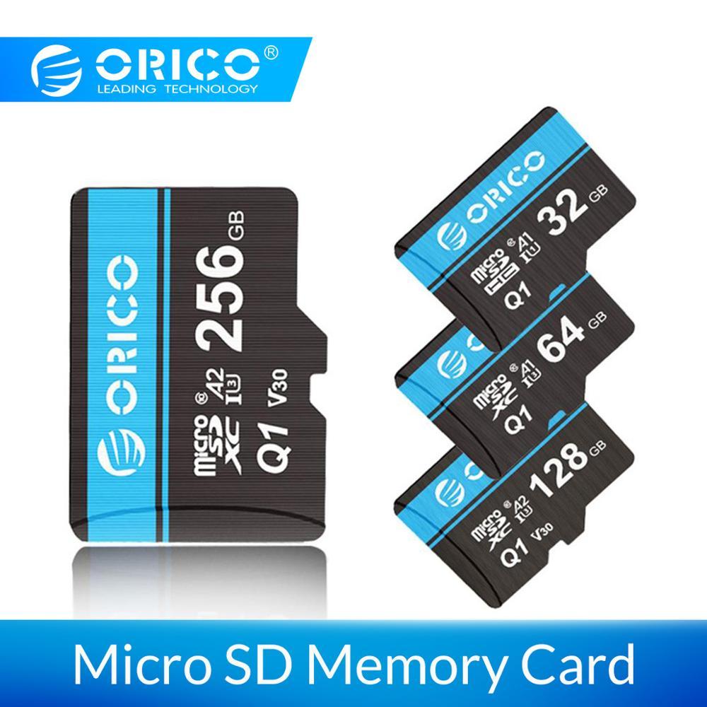 Orico Mini Micro Sd-kaart Geheugenkaart 32 Gb 64 Gb 128 Gb 256 Gb Microsd Max 80 M/s Sd /Tf Flash Card Cartao De Memoria