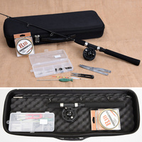 Black solid ice fishing fishing rod set toolbox ice fishing professional with rod reel with box outdoor winter accessories set