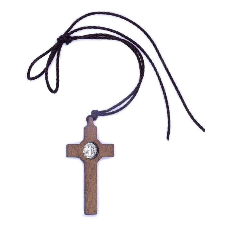 Retro Gesù Croce Collana Collana di Legno Del Pendente Del Metallo Dei Monili Donne Degli Uomini Cattolica Cristiana Religiosa di Fascino del Regalo di Alta Qualità