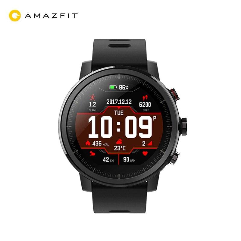 Montre intelligente Amazfit Stratos 2 (1.34 '', 5ATM, GPS) prend en charge la langue russe (expédition à partir de 2 jours, la garantie officielle)