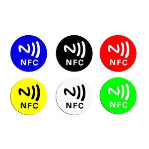 Image 5 - 6 шт./лот NFC этикетки, наклейки NFC 213, этикетка, rfid метка, карта, клейкие брелки, llaveros, llavero Token Patrol