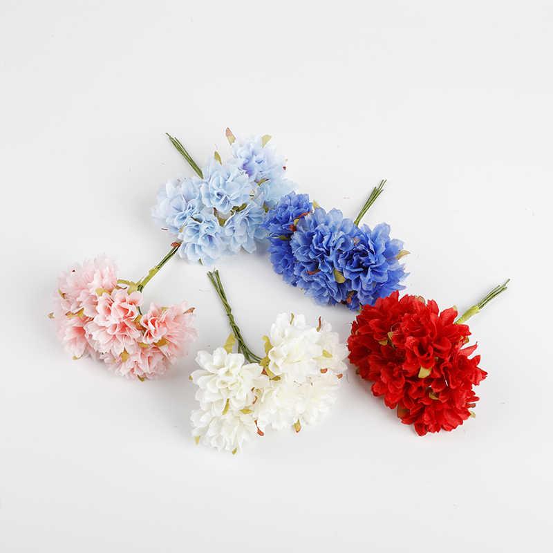 6 Buah Bunga Buatan Botol Kaca Pernikahan Dekoratif Vas Bunga untuk Dekorasi Rumah Natal Garland Bridal Aksesoris