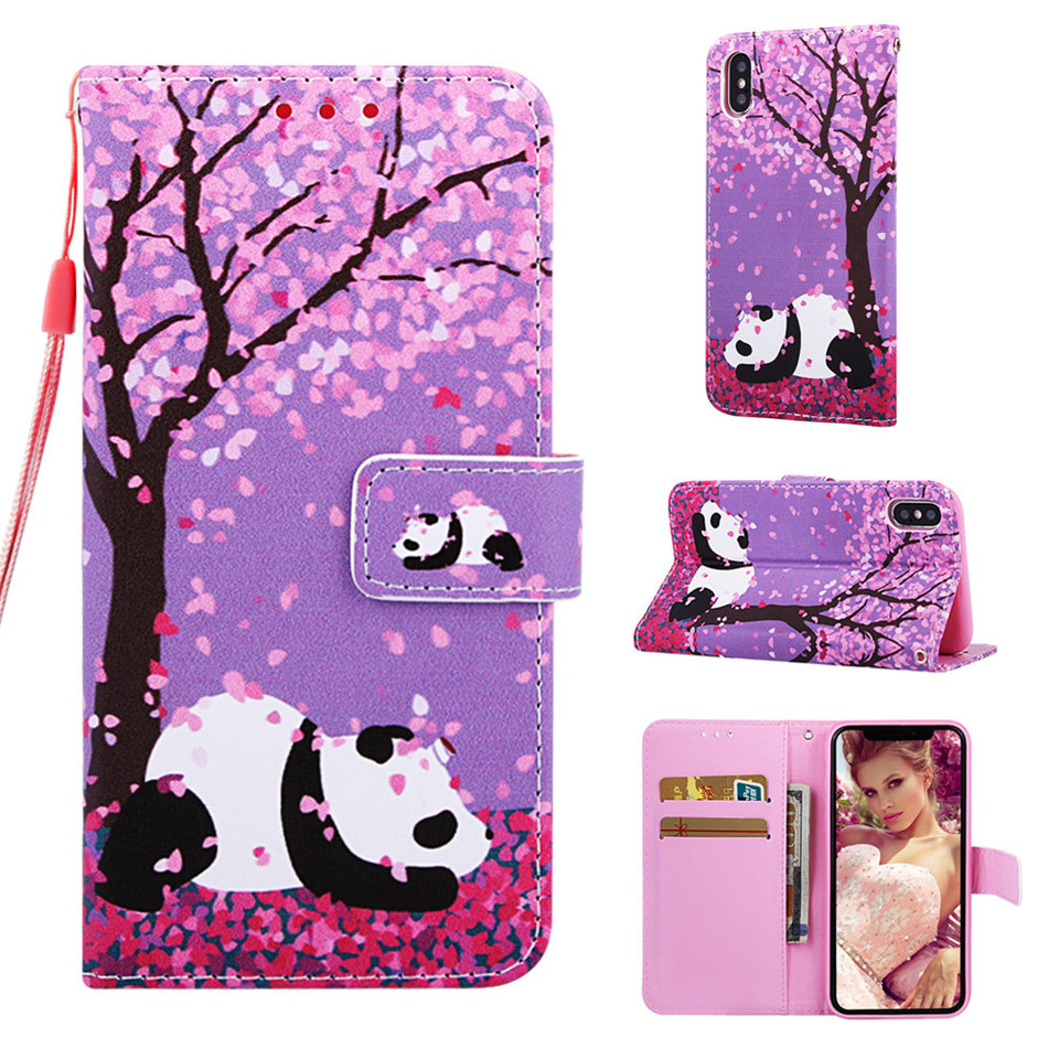 For Fundas Samsung Galaxy M10 M20 M30 S8 J6 Plus A10 A10E A20E A20 A30 A40 A50 A70 Case Wallet Card Slot Cute Flip Cover DP03D in Wallet Cases from Cellphones Telecommunications