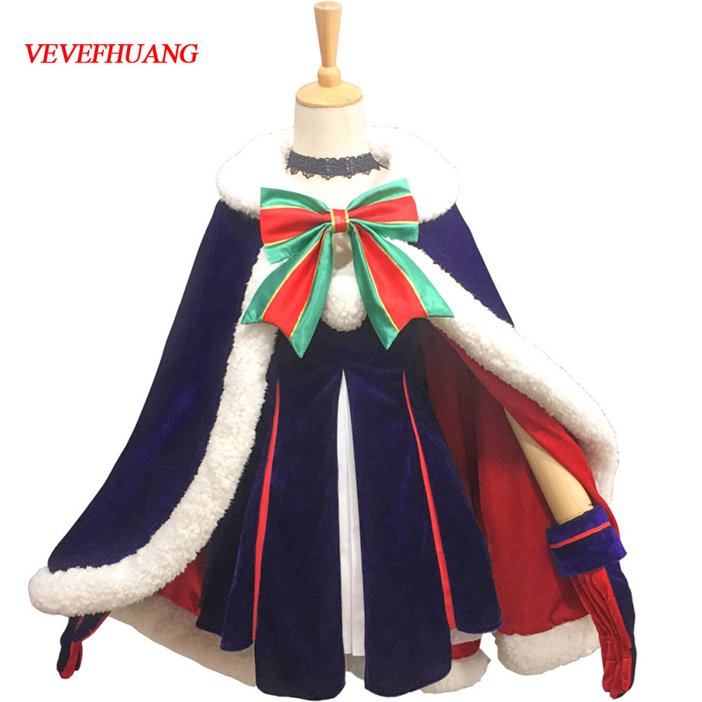 VEVEFHUANG Sexy Costume Anime Fate Grand Order Nero Saber Glittering Ceremonial Christmas Suit Idol Uniform Cosplay Costume