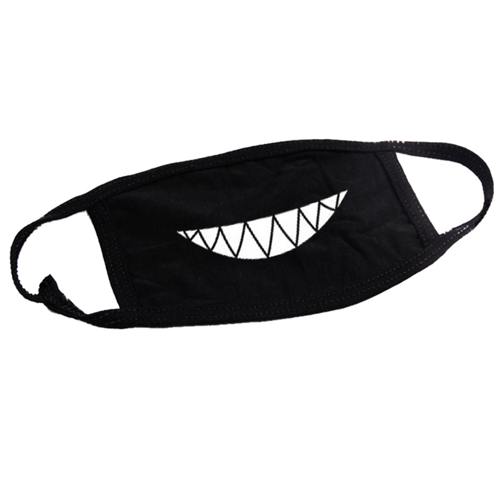 10 Pcs Outdoor Face Air Pollution Winter Protection Cartoon Pattern Cotton Blend Fashion Reusable Warm Dust Proof Mouth Mask