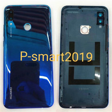 """Original 6.21"""" For Huawei P Smart 2019 P Smart (2019) Back Battery Cover Case Rear Housing+Fingerprint Frame+Glass Lens"""