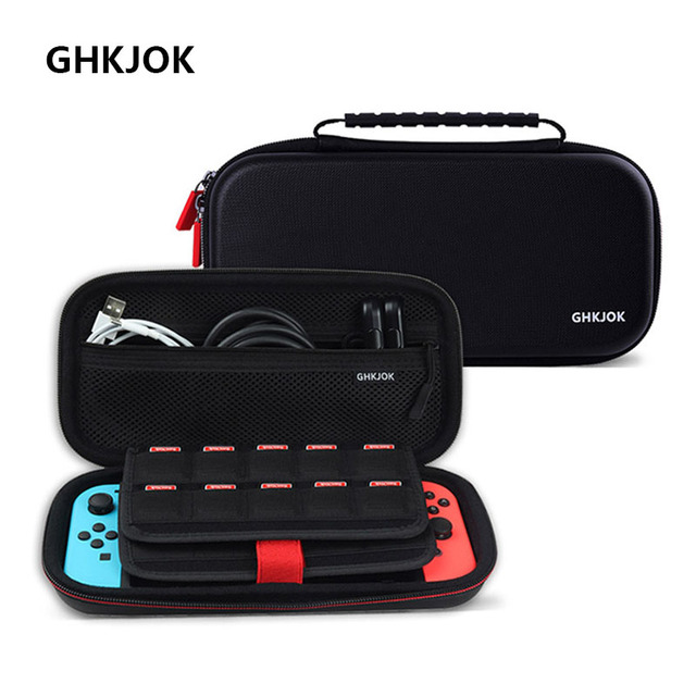 Housses pour à fermeture éclair à coque rigide Portable interrupteur EVA sacs de rangement de transport de protection pour Console NS accessoires cartes de jeu