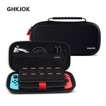 Портативные жесткие чехлы на молнии для Nintendo Switch EVA, защитные сумки для хранения для консолей NS, аксессуары, игровые карты
