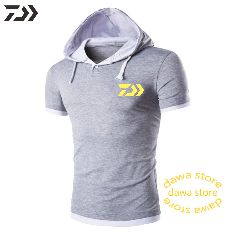 Hoodies Daiwa Fishing Jacket Men Cotton Spring  Breathable Patchwork Solid Fishing Clothing Hiking Outdoor Quick Dry Clothes