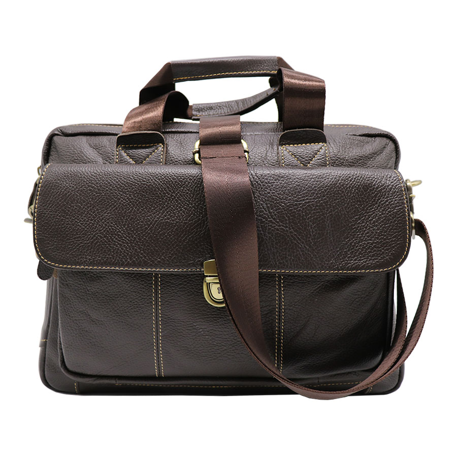 Genuine Leather Business Top-handle Briefcase Handbag Men's Crossbody Shoulder Bag Men Messenger Bags 14' Laptop Computer Pack