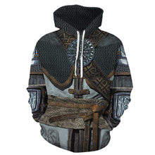 Dropshipping Hoodies Men/Women Hooded Tracksuit Tops Print Retro Armor 3d Sweatshirts With Hat YXQL9258