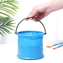 Layered Folding Bucket Bathroom Folding Round Portable Wash Pen Bucket Camping Outdoor Fishing Tool Small Bucket Art Supplies