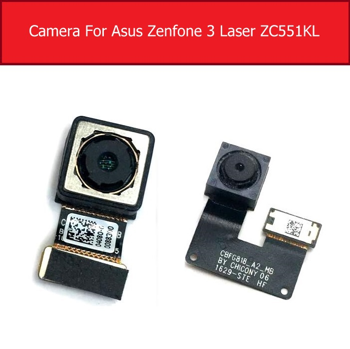 Front & Rear Main Camera For Asus Zenfone 3 Laser ZC551KL Front Back Camera With Flex Cable Replacement Parts