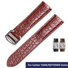 Ремешок для наручных часов из натуральной крокодиловой кожи