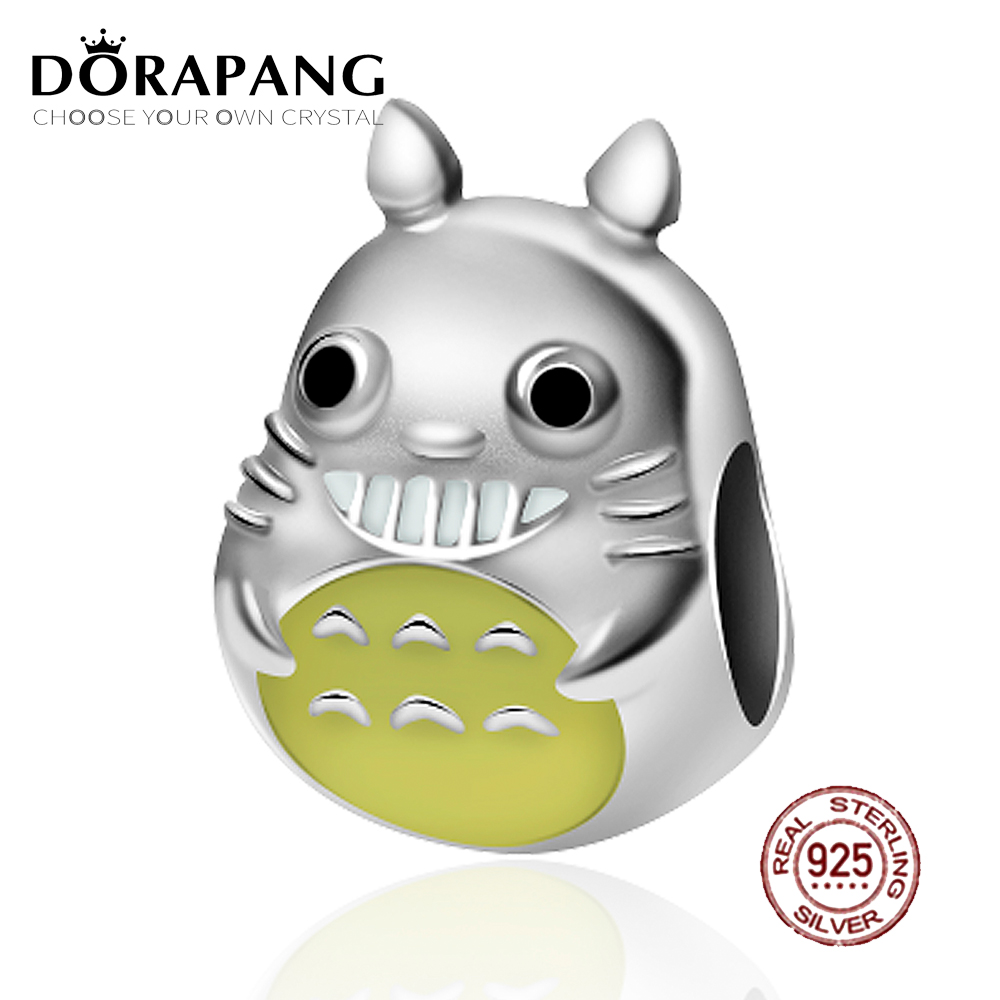 DORAPANG 2018 NEW 100% 925 Sterling Silver Charm Self Design Creative Yellow Lovely Bead Fits Original Bracelet DIY Jewelry Gift