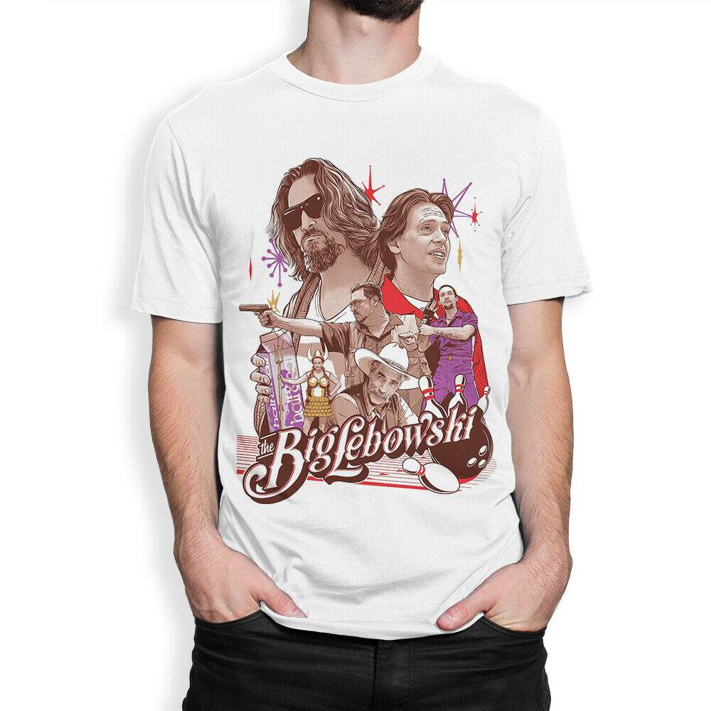 The Big Lebowski Art T Shirt Coen Brothers Movie Tee image