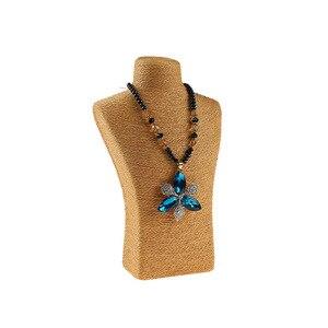 Image 4 - 29*18cm liny konopne pcv portret stojak wystawowy na naszyjnik uchwyt biżuteria manekin biust szyi stojak wystawowy na biżuterię