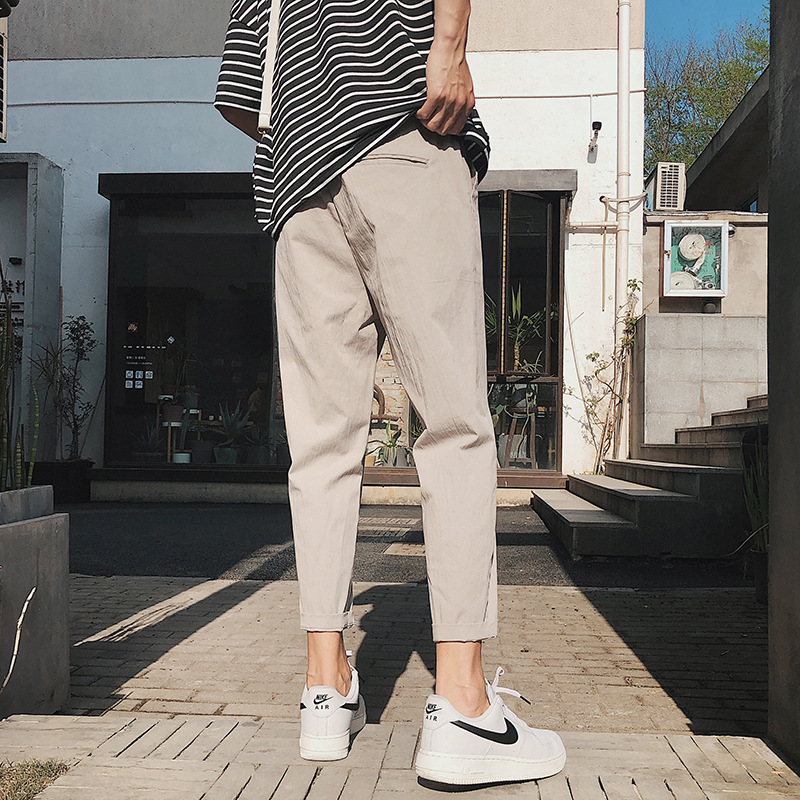 2019 Autumn New Style Harem Pants Korean-style MEN'S Casual Pants Popular Brand Skinny Pants Trend Youth Capri Pants Sub-Men's