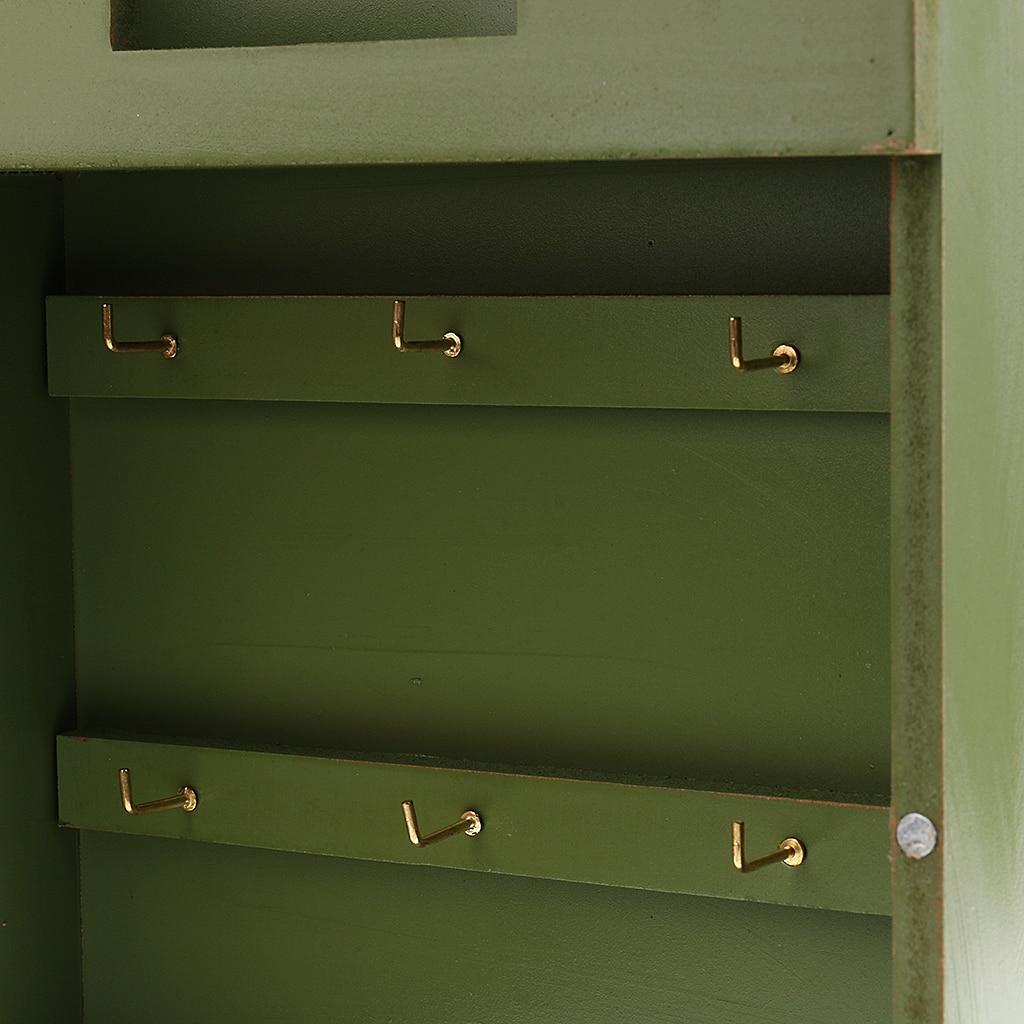 Key Rack Mail Box Organizer Letter Holder Wall Mount for Home Decor Vintage