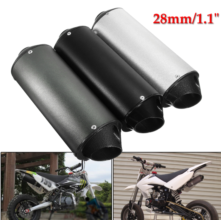 28mm Black Exhaust Pipe Muffler Clamp For 50cc 110 125cc Quad Dirt Pit Bike ATV Black with Aluminum|Exhaust Manifolds| |  - title=