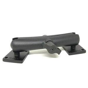 Image 5 - Jadkinsta Base de boule en aluminium Combo Double douille bras socle de montage carré avec ampères modèle de trou pour Garmin pour TomTom GPS