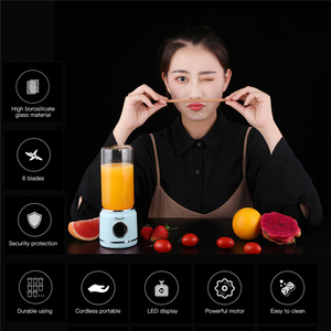 Portable Juicer Cup Fruit Mixer Blender Bottle Mini USB Rechargeable Juicing Mixing Ice Shakes Smoothie Maker with 6 Blades 43