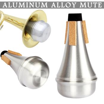 Nowo trąbka Mute akcesoria do instrumentów muzycznych ze stopu aluminium dla początkujących tanie i dobre opinie 216721 Other STAINLESS STEEL