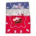 Рождественский сказочный лес хлопок печатных скатерти с вышивкой машинная стирка один Слои снежинки блестящие Runner