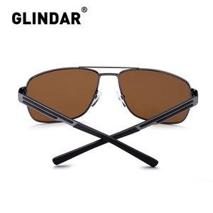 Image 3 - Marka tasarım erkekler polarize güneş gözlüğü kare sürüş güneş gözlüğü erkekler için