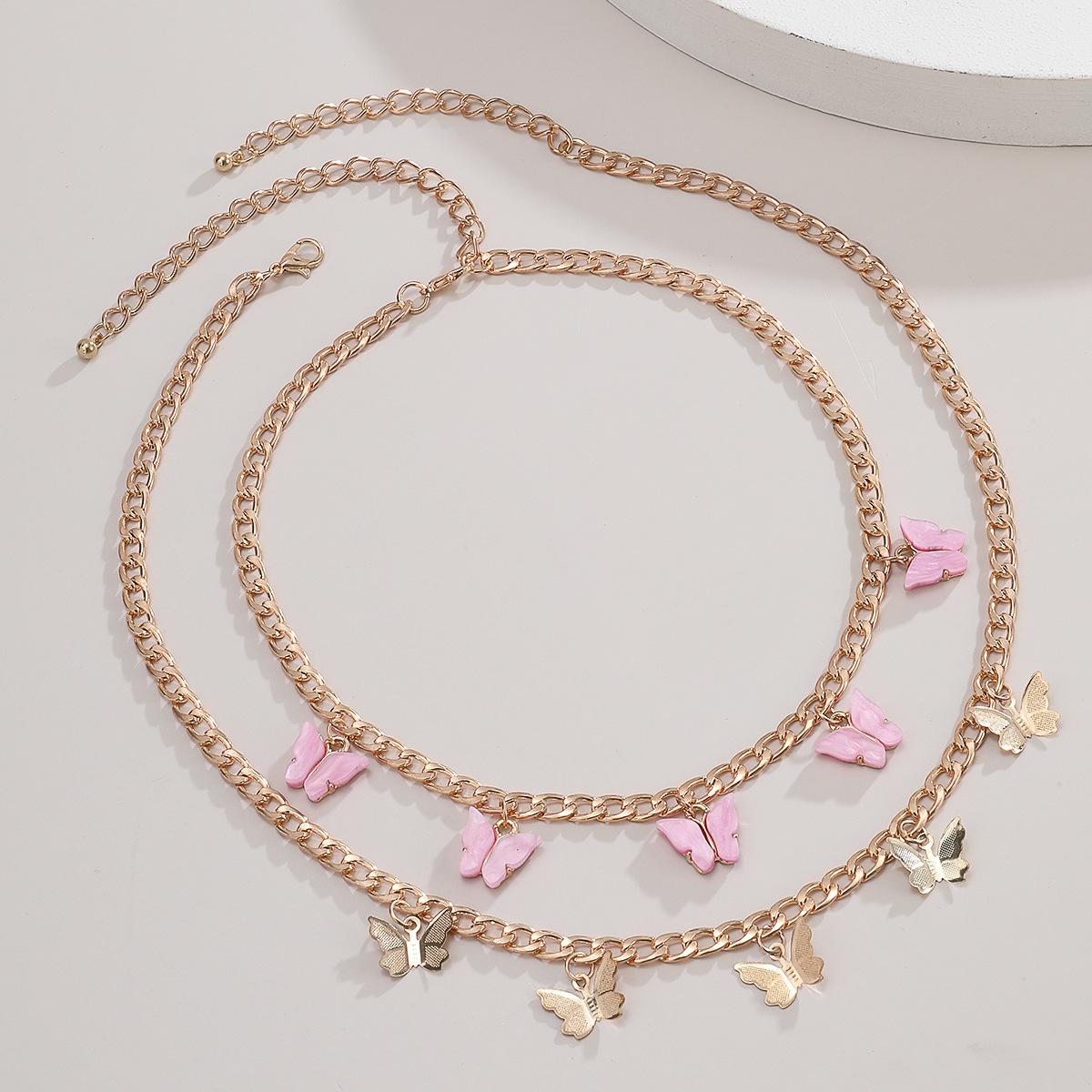 Новое модное женское Двухслойное ожерелье ретро романтическая