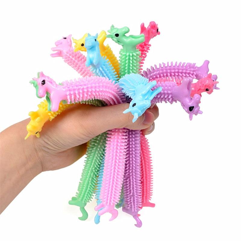 Anti-Stress Toys String Fidget Autism Worm Noodle Random-Color 3pcs Tpr-Rope img4