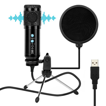 BM 800 Professional Microphone 3.5Mm Wired Condenser Sound Recording Microphone Kits With Shock Mount For computer Studio Record bm 800 professional 3 5mm wired condenser sound recording microphone with metal shock mount for radio braodcasting computer