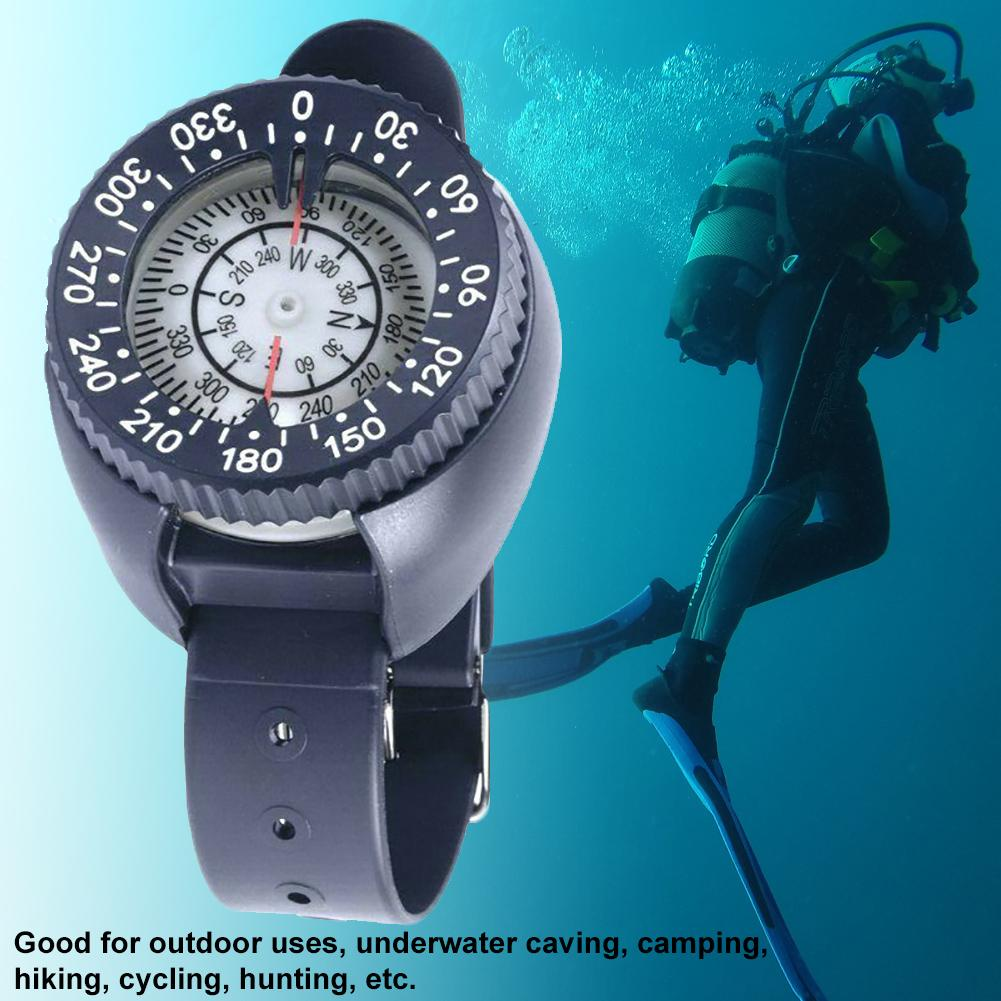 Wrist Watch Compass Outdoor Camping Survival Adventure Hiking Waterproof Diving Compass Swimming Water Sport Navigation Tool