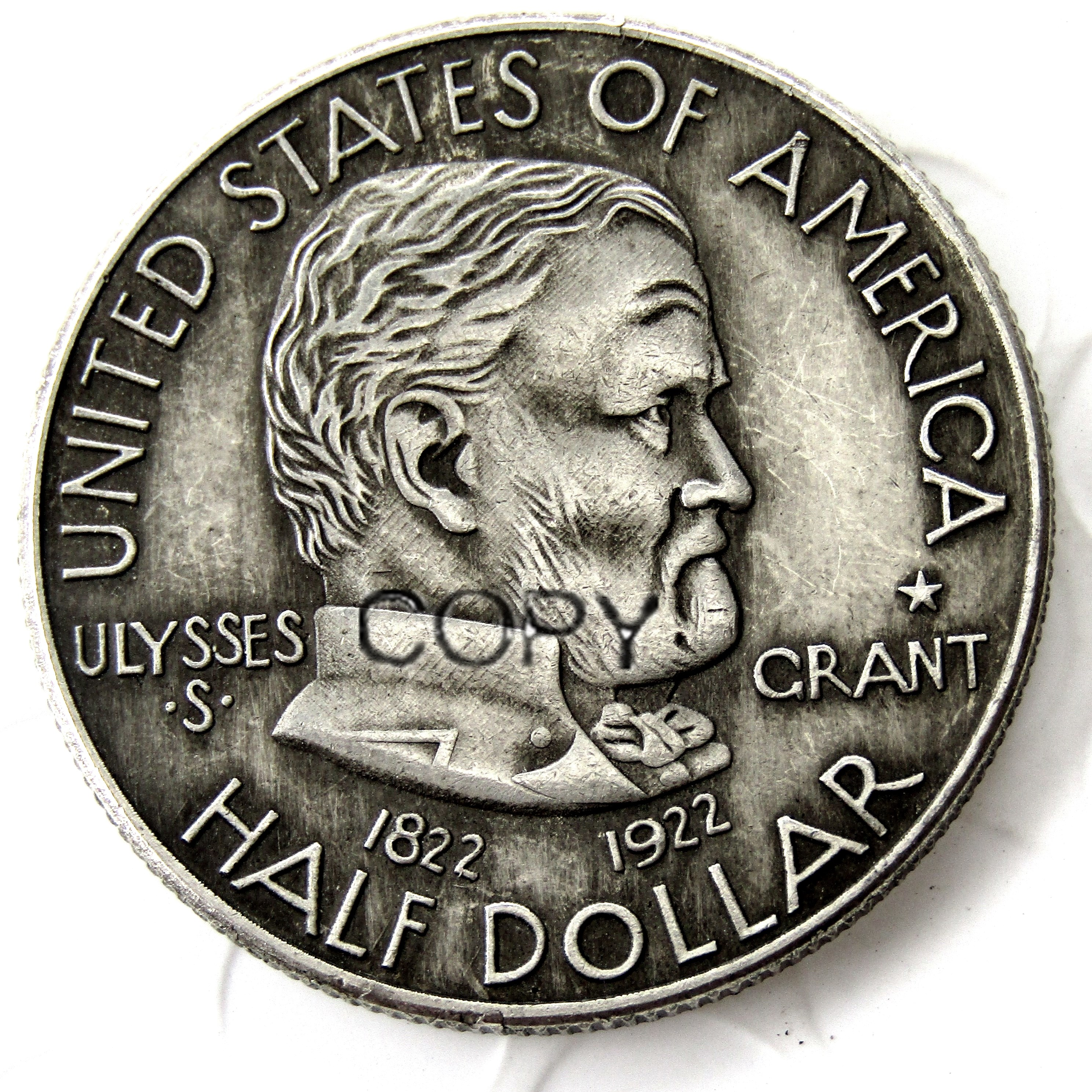 1922 US HALF DOLLAR Silver Plated Copy Coin