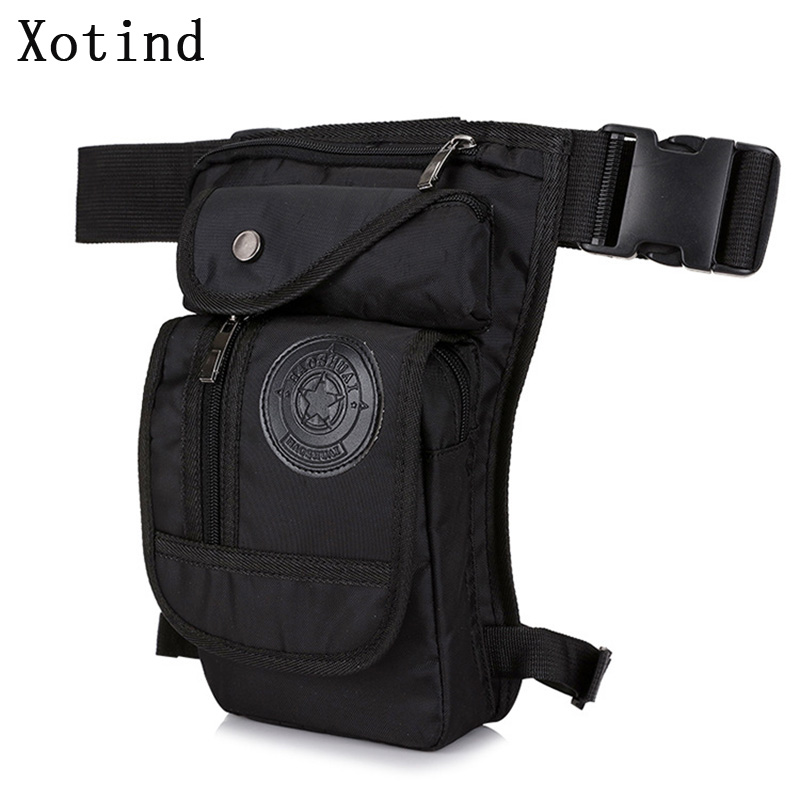Men Nylon Waterproof Waist Pack Wear Resistant Drop Legbag Thigh Belt Hip Bum Military Tactical Motorcycle Riding Crossbody Bags