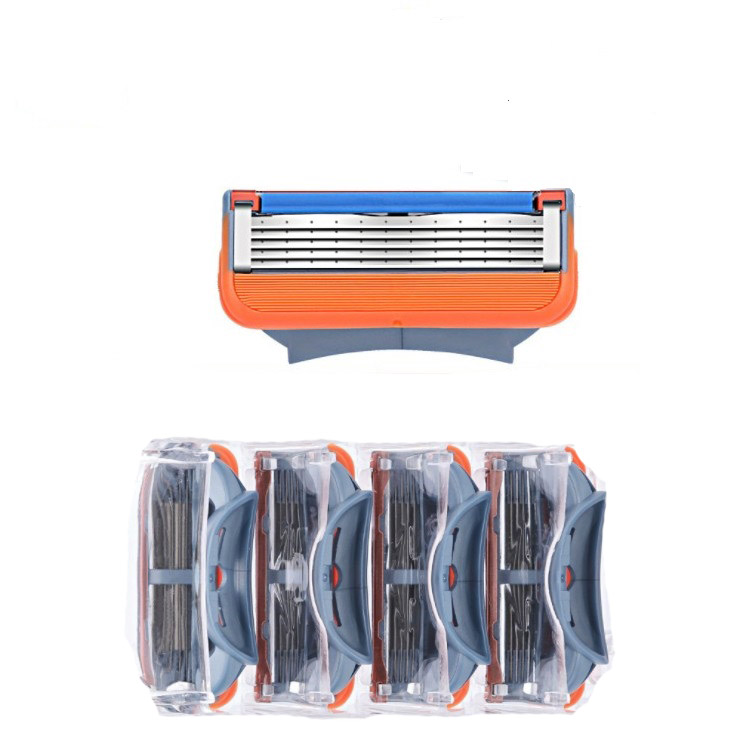 4pcs/lot Razor Blades 5 Layer Blades Shaving For Gilettee Fusion Power Shaver Blades For Gillette Proglide Machine