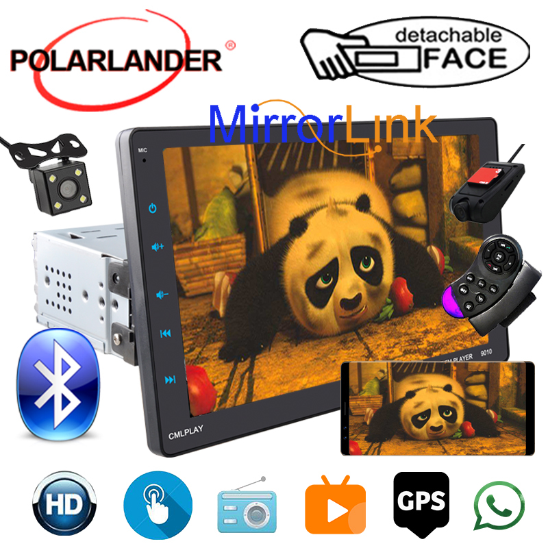 1 Din Car Auto-Radio For Android/Apple CarPlay+GPS Dual Inter-connection Full-Screen View MP5 Video 9
