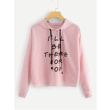Womail Blackpink Sweatshirts hoodies Women Long Sleeve Autumn I'LL BE THERE FOU YOU Letter pullover Hooded streetwear T722(China)