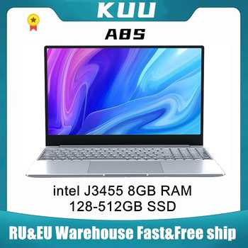 KUU A8S 15.6 inch Student Laptop 8GB RAM 128GB256GB SSD Notebook For intel J3455 Quad Core Ultrabook With Webcam Bluetooth WiFi - DISCOUNT ITEM  15 OFF Computer & Office