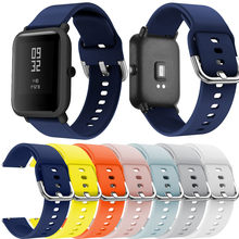Smart watch band Silicone Replacement Watch Band Straps for Xiaomi Huami Amazfit Bip Youth Watch(China)