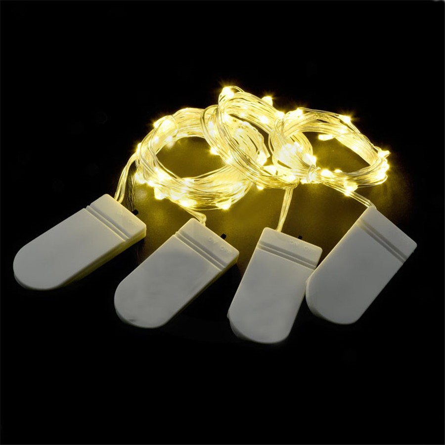 2M 20 LED Fairy Lights CR2032 Battery Operated LED Copper Wire String Lights For Xmas Garland Party Wedding Home Decoration X