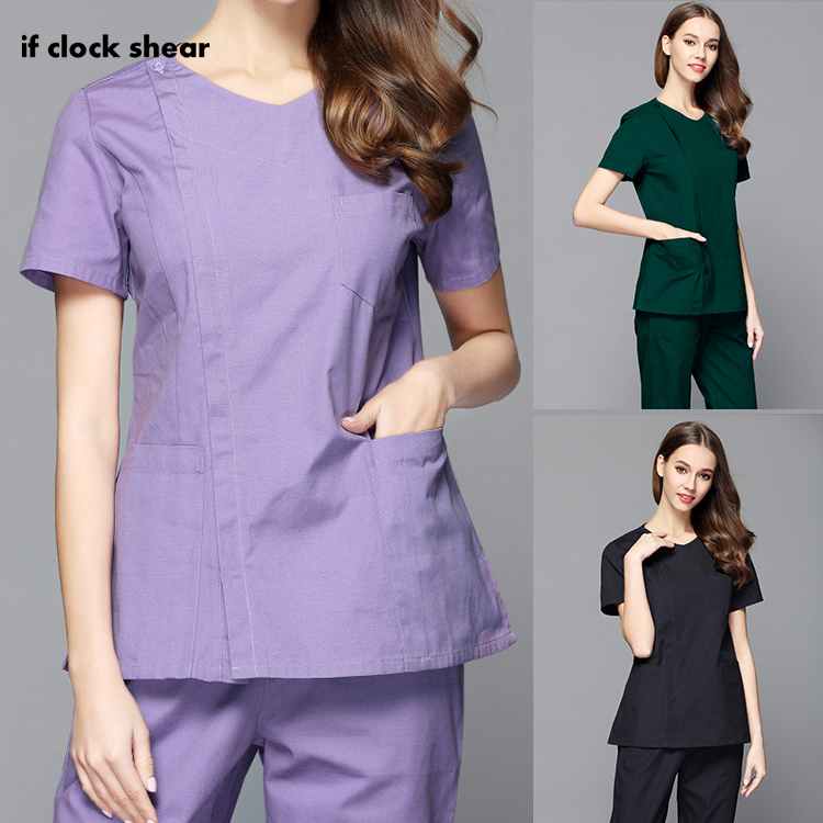 Hospital Doctor Nurse Tops/Suits Beauty Salon Workwear High Quality Medical Suits Dental Clinic Overalls Clothes Scrub Uniforms