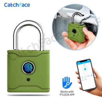 Smart Lock Keyless Fingerprint Lock USB Rechargeable Door Lock Smart Padlock Bluetooth Quick Unlock Phone unlock TTlock App