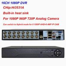 Видеорегистратор для системы видеонаблюдения, 16 каналов, 1080 пикселей, DVR, VGA, HDMI, ONVIF, AHD, 1080 пикселей, 720 пикселей, 1080 пикселей, 5 МП, 4 МП, 720 пиксел...