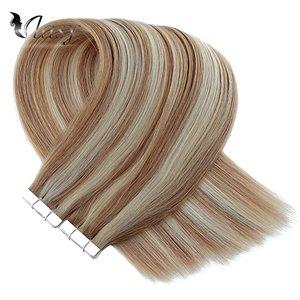 Image 5 - Vlasy 16 20 24 רמי קלטת שיער הרחבות פסנתר צבע ישר כפול נמשך Weft עור דבק קלטת תוספות