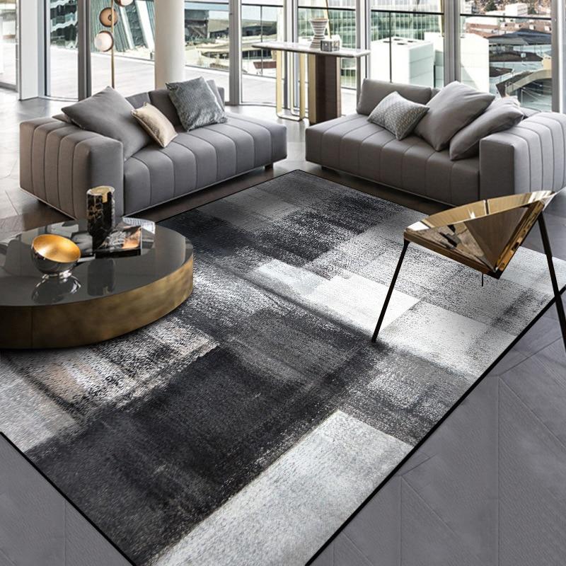 Non Slip Door Mat Plush Rug Custom Made, Dark Carpet Living Room