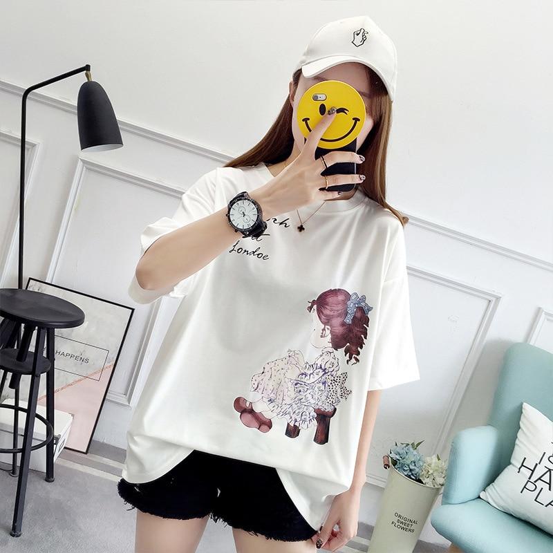 T Shirt Harajuku T-Shirts Women 2019 New Summer Short Sleeve Black Color