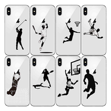 American style Sports Athlete Soft Silicone Phone Cases Cover Baseball Football Soccer Tennis Golf for Iphone 6S 7 8 Plus XR X