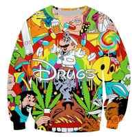 PLstar Cosmos Drop verschiffen Drogen & unkraut Männer Frauen Paare Sweatshirt Sweats Unisex Sweatshirt Rot Wein 3D druck cartoon hoodies