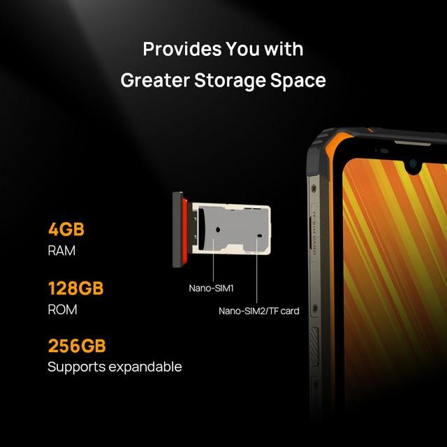 DOOGEE S59 Pro smartphone 10050mAh Super Battery IP68/IP69K 4+128GB NFC Rugged Smart phone 2W Loud Volume Speaker 4